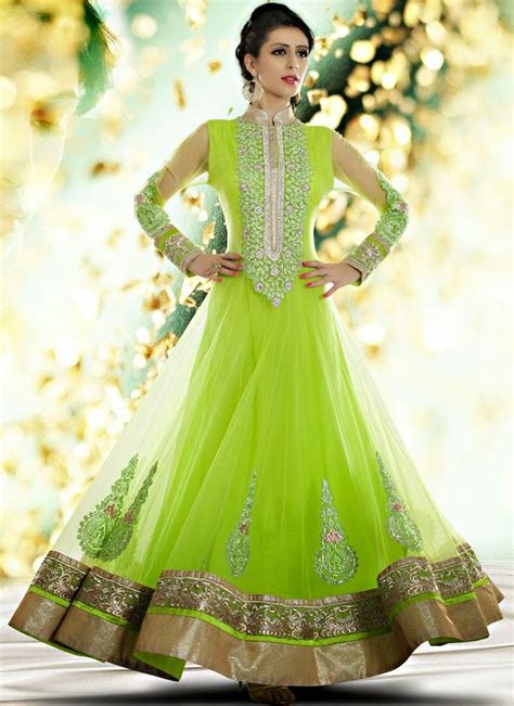 Indian Royal Wedding Wear Long Anarkali Dresses 2014