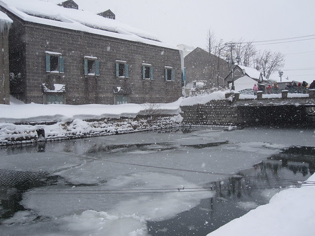 Ice on the canal