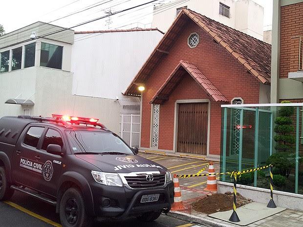 Presbitério da Igreja Cristã Maranata foi interditado judicialmente, diz polícia (Foto: Leandro Nossa / G1 ES)