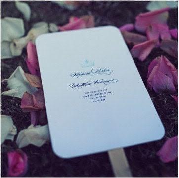 25 Custom Fan Wedding Programs