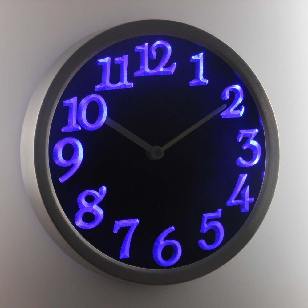 Big Letter Home Decor Night Light Neon Sign Led Wall Clock