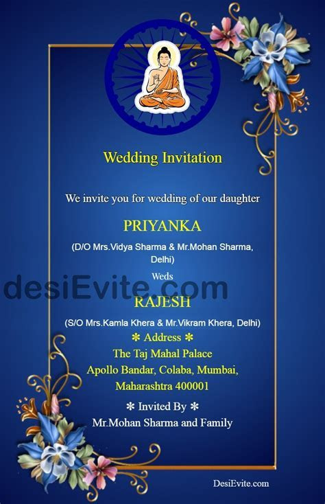 buddhist marriage card format card matter invitation wording