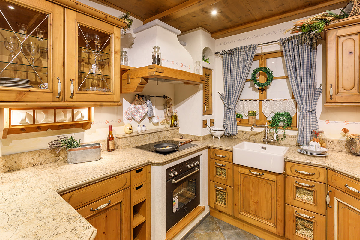 Landhausstil Küche Regal Buche Ikea Abverkauf Holz Modern ...