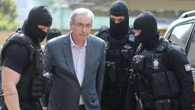 Eduardo Cunha foi preso preventivamente na quarta e levado para Curitiba
