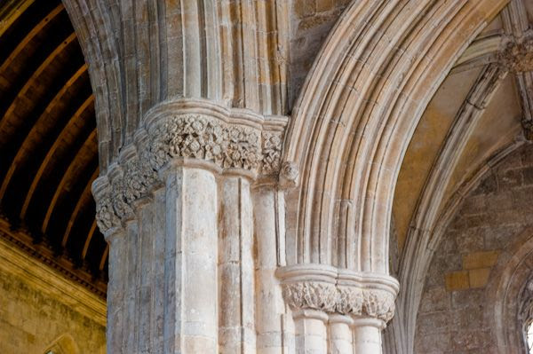 Patrington, St Patrick's Church photo, Column capitals