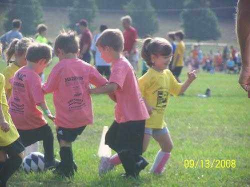 Jacob playing soccer