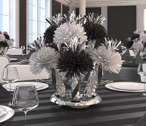 Black And White Party Centerpiece Ideas My Web Value