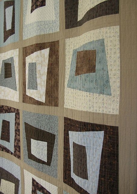 Improv in Neutrals quilt