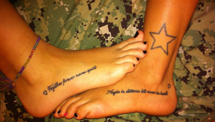 Always Together Never Apart Tattoo