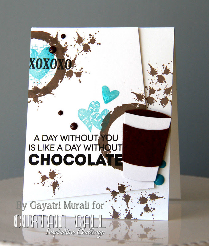 Chocolate love card