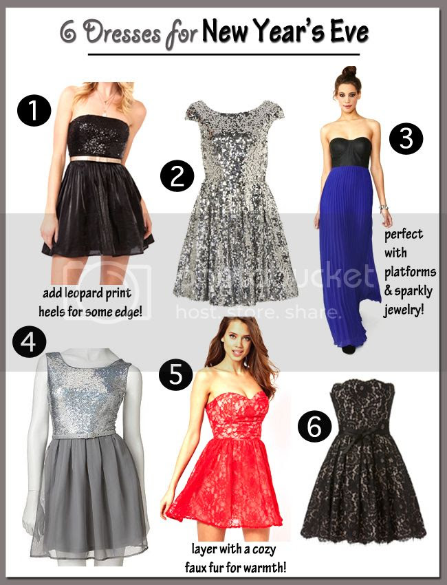 sparkly New Year's Eve dresses, sequin party dresses, Topshop skater dress, Target Neiman Marcus Robert Rodriguez lace dress, strapless red lace dress, what to wear for New Year's Eve parties