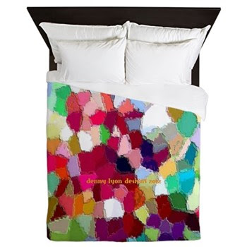 Rainbow Colors Queen Duvet