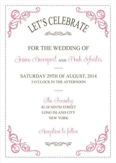Wedding Invitations Template : Wedding Invitations
