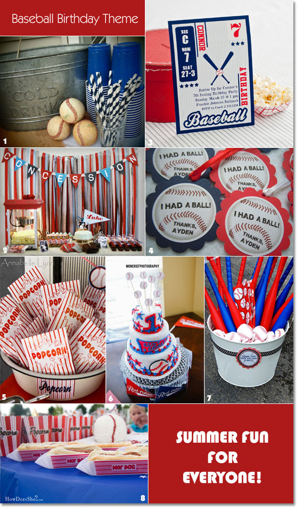 Hit A Home Run Ideas For A Baseball Themed Birthday Unique Party