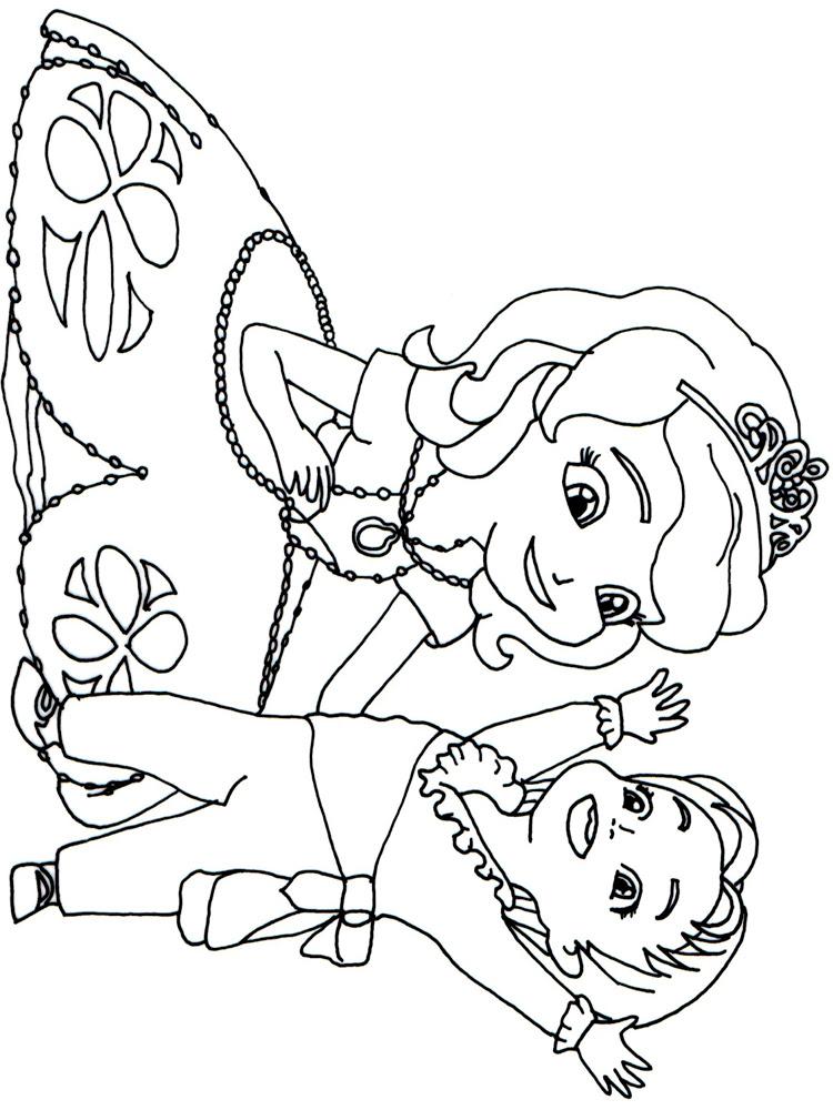 Prenses Sofia 13 ücretsiz Boyama Resimleri