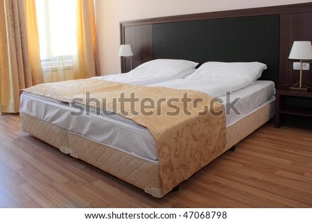 Beautiful And Modern Bedroom Interior Design. Stock Pho