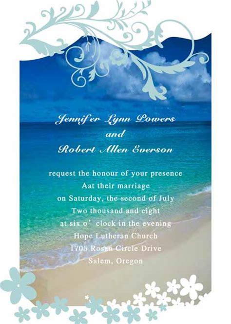 modern seaside summer beach wedding invitations EWI038 as