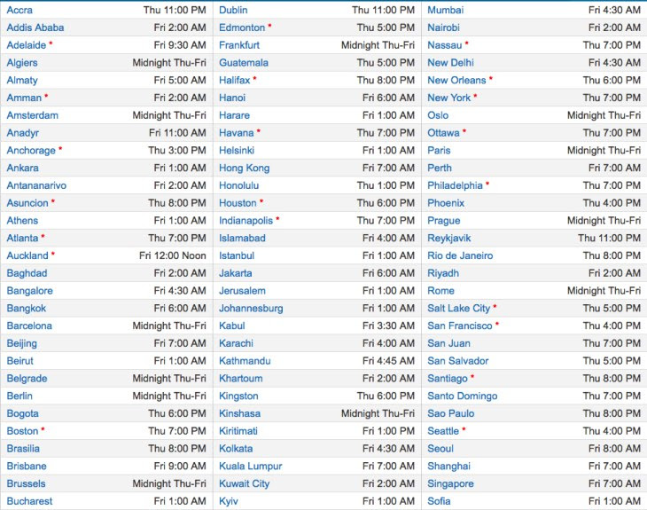 Samsung Galaxy S4 live stream by time zone 1