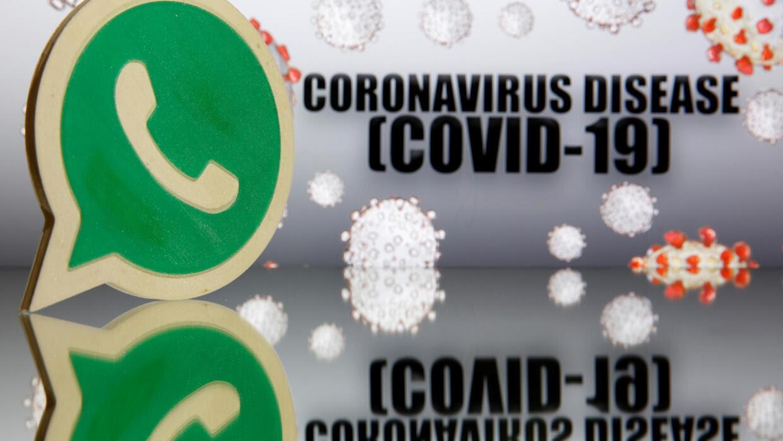 Logo của ứng dụng Whatsapp về đại dịch coronavirus