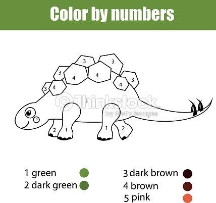 Página Para Colorear Con Stegosaurus Dinosaurio Juego De Niños