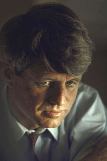 Pensive portrait of presidential contender Bobby Kennedy during campaign.  (Photo by Bill Eppridge//Time Life Pictures/Getty Images)