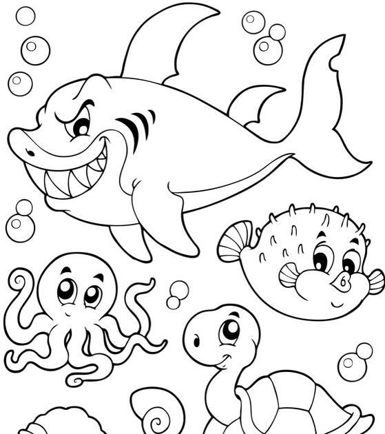 Hudyarchuleta: Coloring Pages Sea Creatures