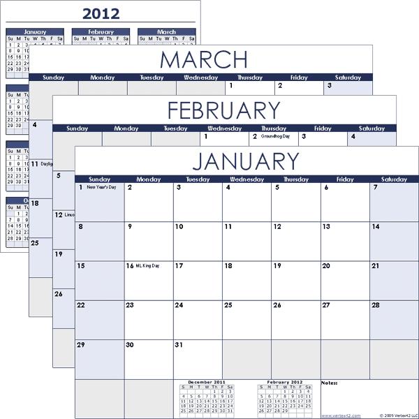 vertex free calendar templates excel calendar template iZwvEj