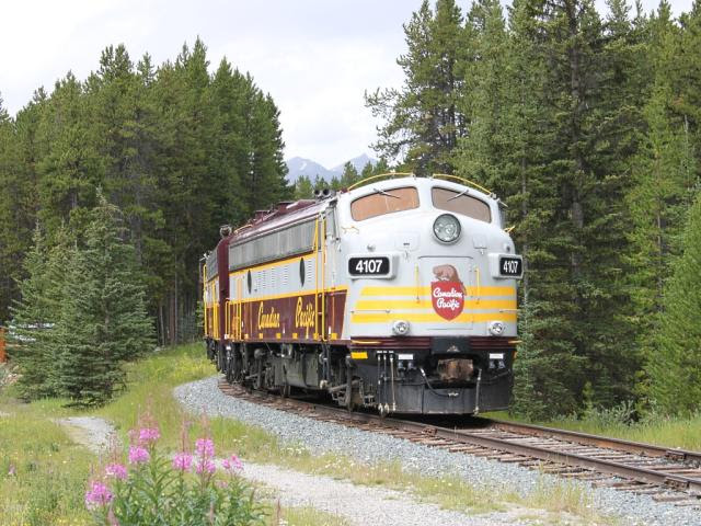 CP 4107 at Lake Louise, Alberta