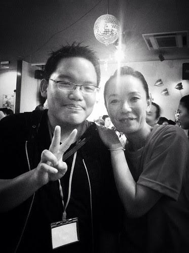 With director Naomi Kawase at the closing party of Nara Film Festival.