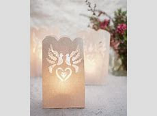 Love Birds Wedding Paper Bag Lights ? Candy Cake Weddings Favors and Custom Gifts