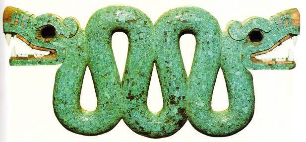 Serpente (colar) de Tlaloc, deus asteca da chuva