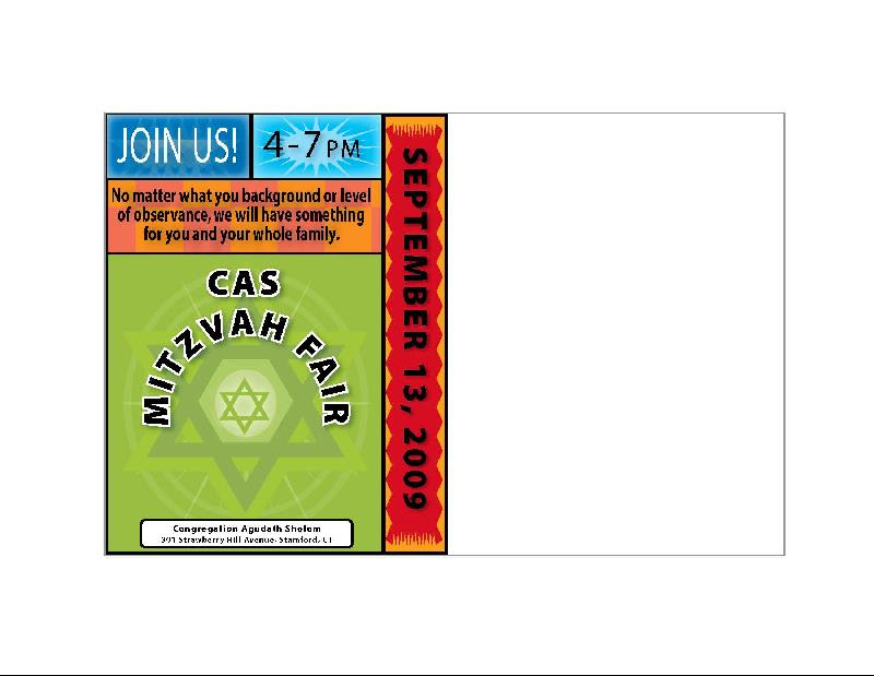 Mitzvah Fair postcard?