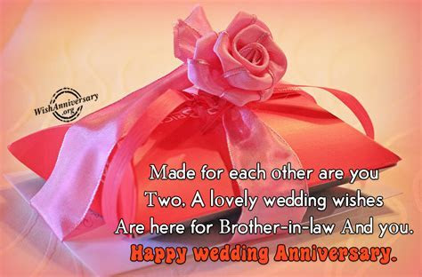 Anniversary Wishes For Brother in Law Pictures, Images