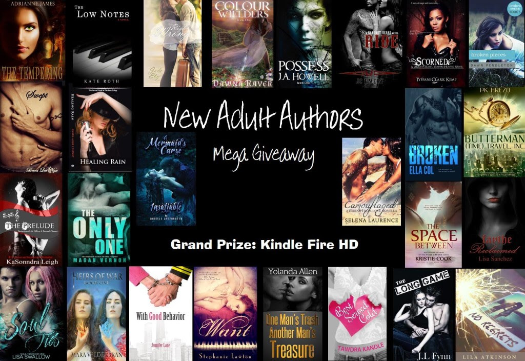 Photo Collage of New Adult Books Giveaway Kindle Fire