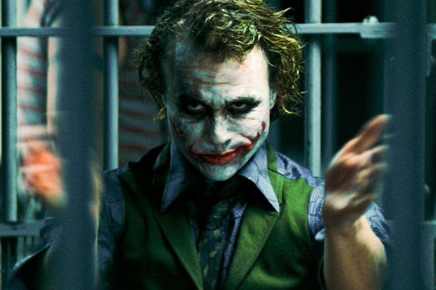 Heath Ledger in his role as The Joker in The Dark Knight 2008