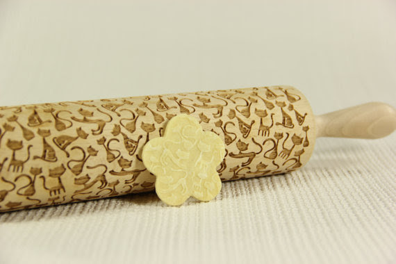 Embossing rolling pin - Sweet cats pattern by AgnesWorld