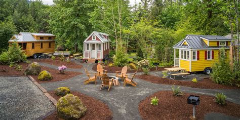 mt hood tiny house village  oregon tiny house rentals