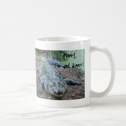 Funny Hungry Crocodile Photo Mug