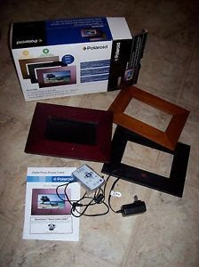 Polaroid 7 Digital Photo Frame Kit With 3 Different Frames Remote
