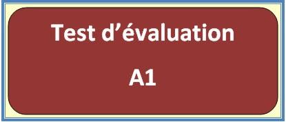 Resultado de imagen de test de niveau a1 français