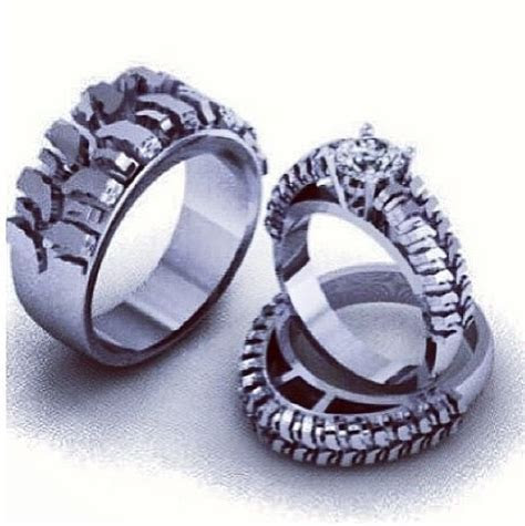 Mud Tire Wedding Ring   These are the wedding rings we