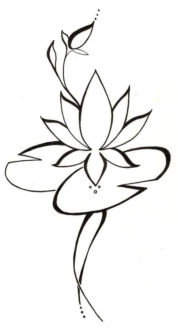 Lotus Lilypad Original Tattoo Design Clip Art Library