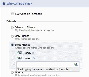 Privacy Profile Customize