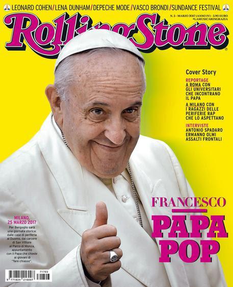 Risultati immagini per papa francesco sulla copertina dei rolling stone immagini
