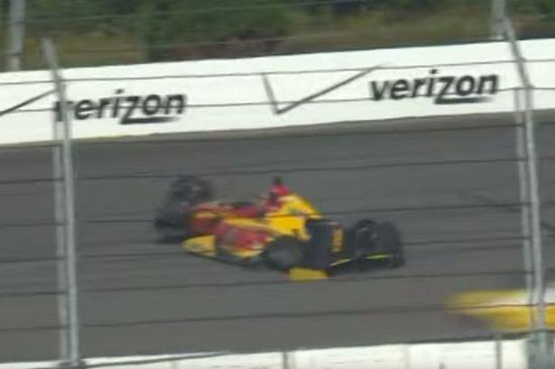 Pocono Speedway Sage Karam and Justin Wilson Crash