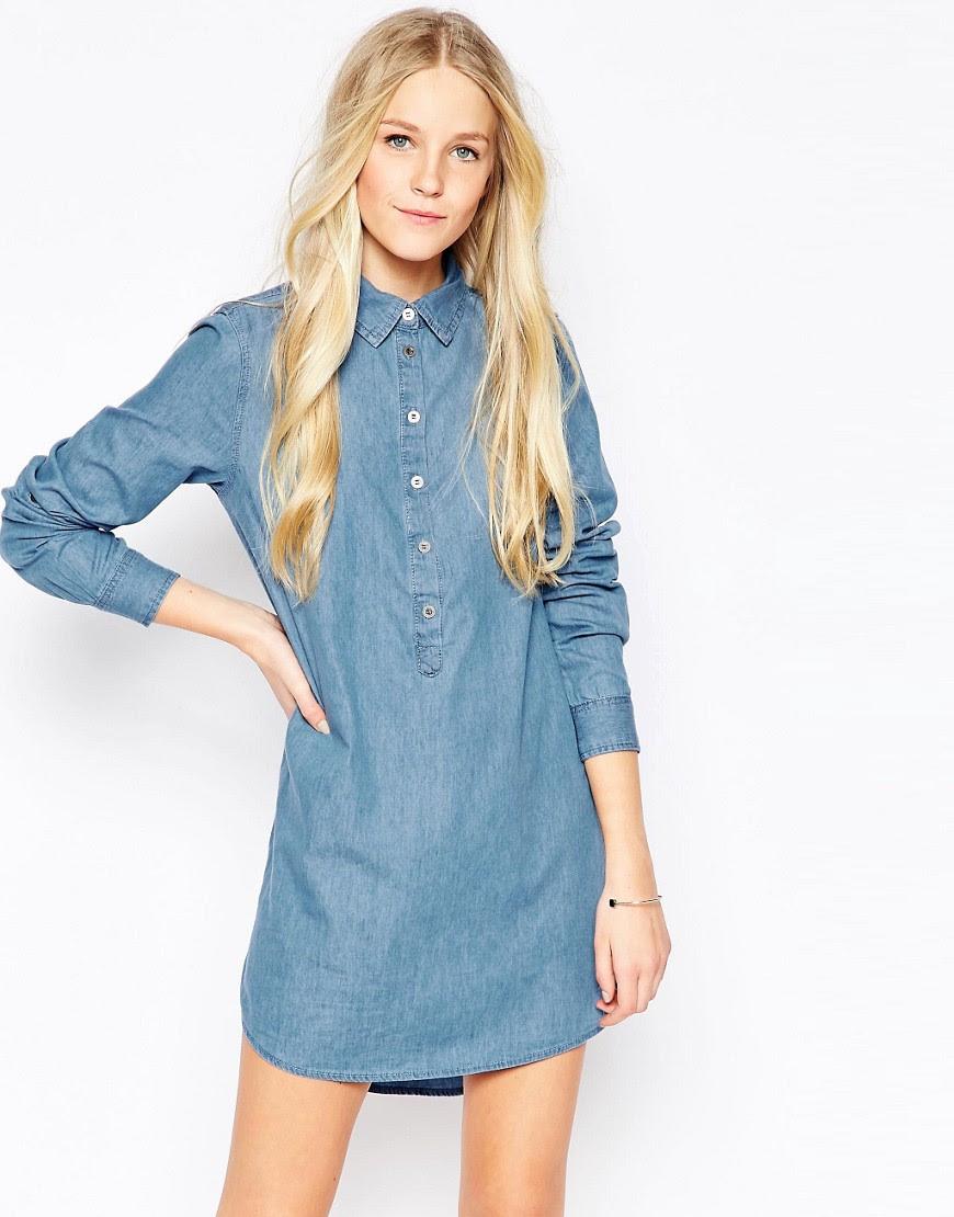 Image 1 - Influence - Robe chemise à délavage moyen