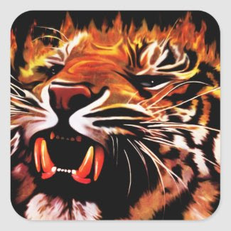 Fire Power Tiger Sticker