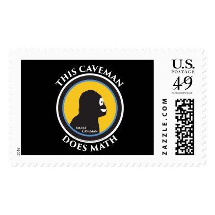 $0.49 Large Postage Stamps Math Smart Caveman
