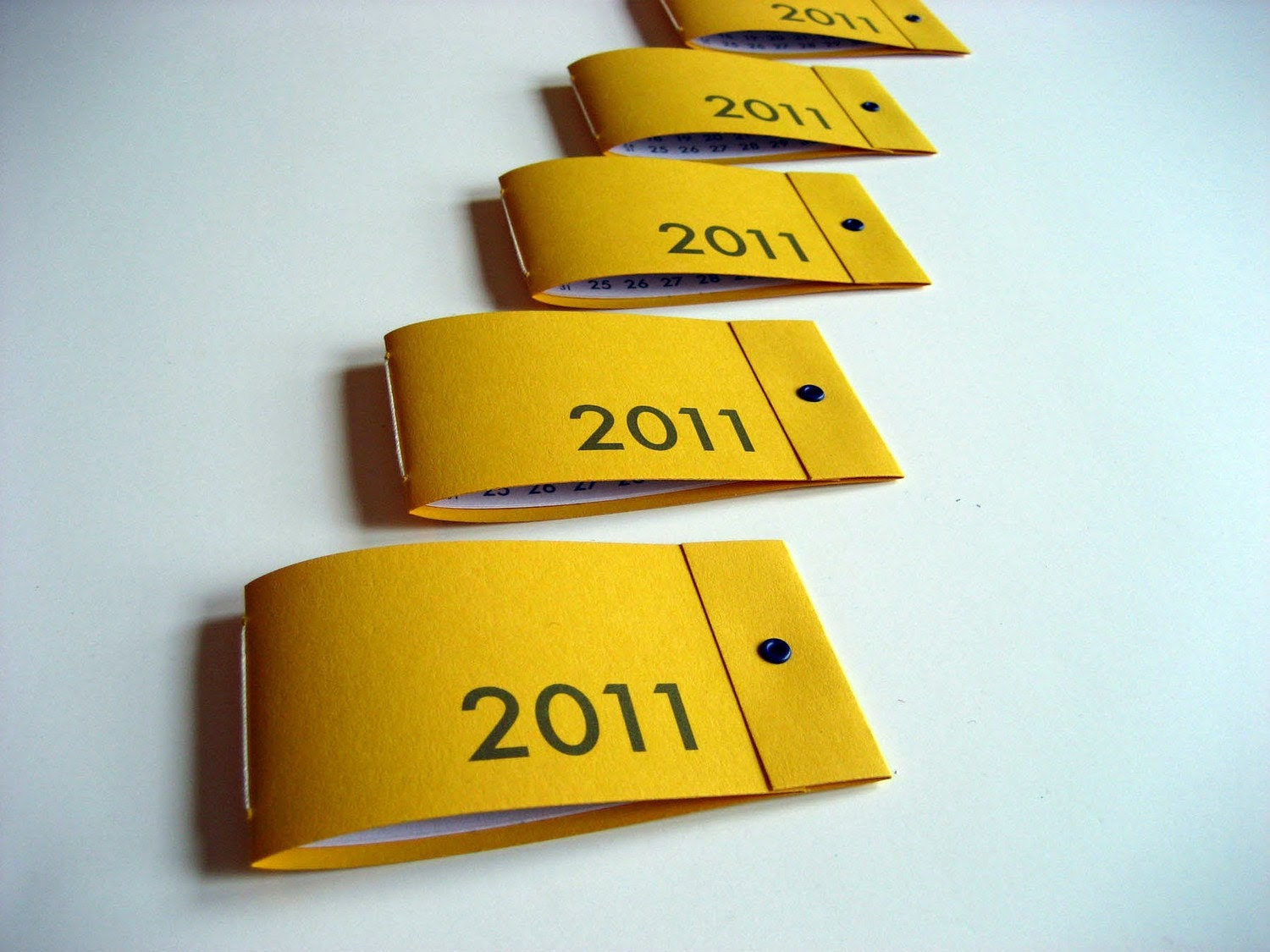 Sale 25% off - 10 Mini 2011 Calendar Matchbook Notebooks on yellow - custom party favors - Ready to Ship