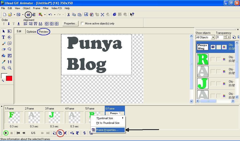 Membuat Animasi GIF dengan Ulead Gif Animator web desain grafis